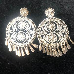 Circle Silver Earrings
